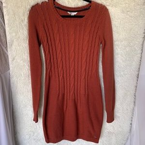 Volcom Burnt Orange Sweater Dress Size M/12
